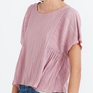 Madewell Texture & Thread Micropleat Top size XL